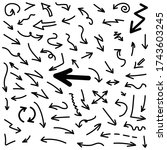 big arrow set drawn vector | Shutterstock .eps vector #1743603245