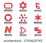 logo pack of modern style for... | Shutterstock .eps vector #1743625745