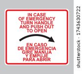 decal in case of emergency turn ... | Shutterstock .eps vector #1743630722