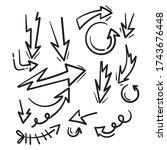 hand drawn doodle arrow... | Shutterstock .eps vector #1743676448