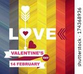 valentine's day poster... | Shutterstock .eps vector #174368936