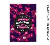 cocktail bar menu  template...   Shutterstock .eps vector #174368966