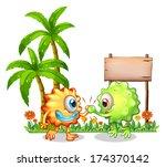 illustration of the monsters... | Shutterstock . vector #174370142
