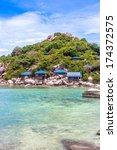 beautiful paradise tropical... | Shutterstock . vector #174372575