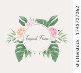 beautiful tropical watercolor... | Shutterstock .eps vector #1743727262