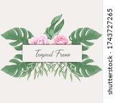 beautiful tropical watercolor... | Shutterstock .eps vector #1743727265