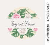 beautiful tropical watercolor... | Shutterstock .eps vector #1743727268