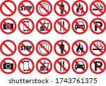 Prohibition Warning Icon...