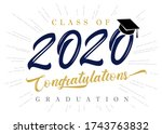 class of 2020 congratulations... | Shutterstock .eps vector #1743763832