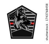 k9 german shepherd mascot logo... | Shutterstock .eps vector #1743768458