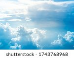 blue sky background. white... | Shutterstock . vector #1743768968