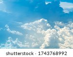 blue sky background. white... | Shutterstock . vector #1743768992