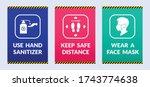 corona healthcare graphis signs ...   Shutterstock .eps vector #1743774638