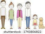 illustration of a happy family.   Shutterstock .eps vector #1743806822