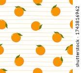 fresh organic orange seamless... | Shutterstock .eps vector #1743816962
