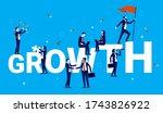 growth   business team working...   Shutterstock .eps vector #1743826922