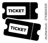 ticket icon symbol illustration ...