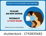 wearing mask. wear face mask... | Shutterstock .eps vector #1743835682