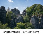 Bastion Bridge Bastei Between...