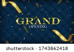 grand opening card with golden...   Shutterstock .eps vector #1743862418