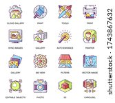 images gallery flat icons set.... | Shutterstock .eps vector #1743867632