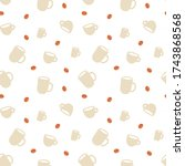 seamless pattern with coffee... | Shutterstock .eps vector #1743868568