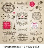 vintage valentine's highly... | Shutterstock .eps vector #174391415
