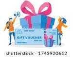 gift voucher  happy people win...   Shutterstock .eps vector #1743920612
