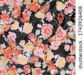 cute pattern in a small flower. ... | Shutterstock .eps vector #1743926408