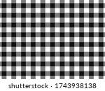 Gingham Tablecloth Back Vector...