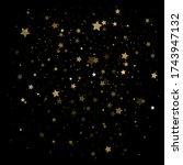 gold stars. confetti... | Shutterstock .eps vector #1743947132