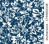 delicate floral ornament.... | Shutterstock .eps vector #1744003148