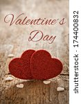 valentine card with text  - stock photo