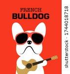 French Bulldog Wearing Red...
