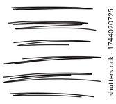 set of hand drawn black lines....   Shutterstock .eps vector #1744020725