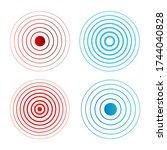 sonar sound waves icon set.... | Shutterstock .eps vector #1744040828