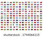 all world flags illustration... | Shutterstock . vector #1744066115