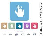right handed slide right... | Shutterstock .eps vector #1744072505
