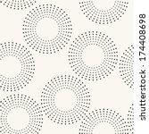 seamless pattern with dotted... | Shutterstock .eps vector #174408698