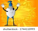 cartoon bottle of hand... | Shutterstock .eps vector #1744110995