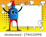 cartoon bottle of hand... | Shutterstock .eps vector #1744110998