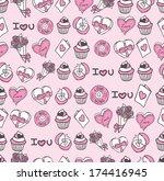 valentines day background | Shutterstock . vector #174416945