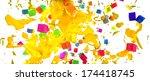 beautiful yellow splash on... | Shutterstock . vector #174418745
