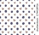 vector floral seamless pattern...   Shutterstock .eps vector #174418916
