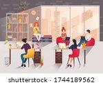 vector illustration. creative... | Shutterstock .eps vector #1744189562