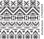 seamless colorful aztec pattern | Shutterstock .eps vector #174420545