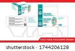 disposable face  surgical...   Shutterstock .eps vector #1744206128