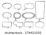 speak bubbles set icon | Shutterstock .eps vector #174421532