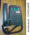 Small photo of Kannur , Kerala / India - 05 28 2020 : Caller ID type Landphone used by Bharat Sanchar Nigam Limited BSNL in India