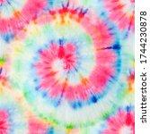 Spiral Pattern. Fantasy Fabric. ...